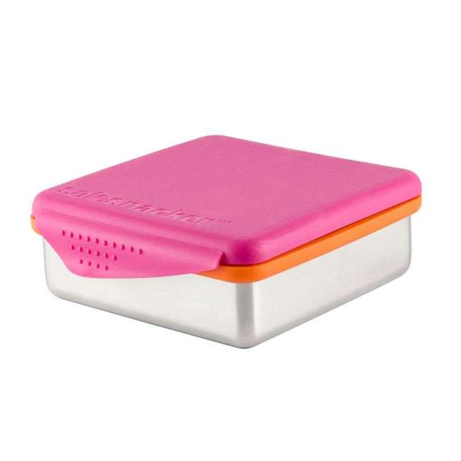 894148002800 Kid Basix 894148002794 Safe Snacker 23 Ounce Stainless Steel Lunch Box, Fuchsia 2