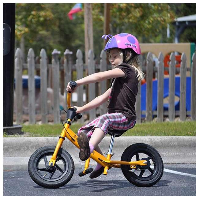 EG12-G Glide Bikes Ezee Glider Unisex Sleek Kids Adjustable Mini Balance Bike, Green 3