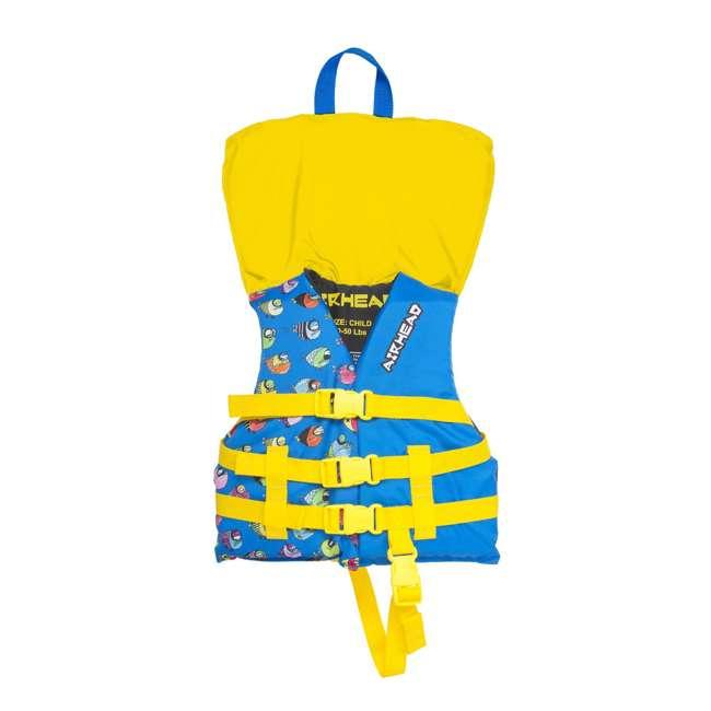 12 x 10086-02-A-BL Airhead Crayon Fish Child Life Vest, Blue (12 Pack) 1