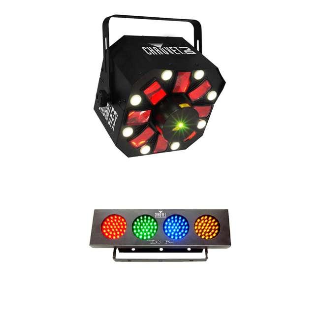 SWARM-5FX + DJBANK Chauvet DJ SWARM 5FX Derby Strobe + Light Strip