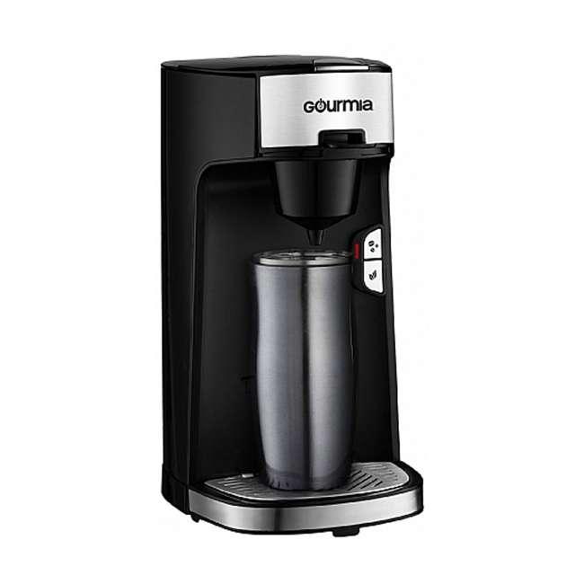 GCM3600 Gourmia Automated Single Serve Coffee and Tea Brewer and Capsule Machine, Black 3