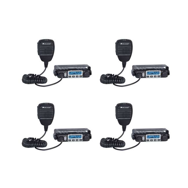 4 x MXT115VP3 Midland MicroMobile 15-Watt GMRS 2-Way Radio Kit (4 Pack)