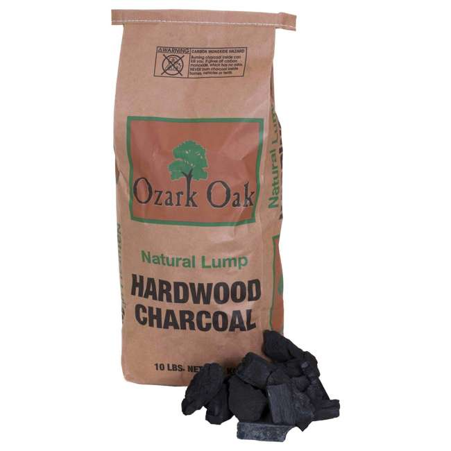 195350012 Ozark Oak Premium Natural Hardwood Lump Grill and Smoker Charcoal, 10-Pound Bag
