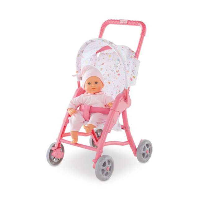 FRN90 Corolle Mon Premier Poupon Folding Toy Canopy Stroller for 12 Inch Baby Dolls 2