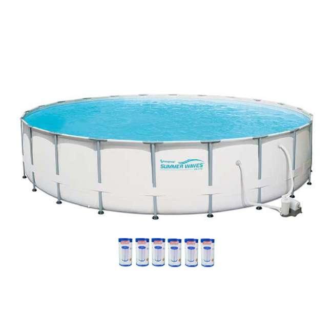 Summer Waves Elite 22 Ft Frame Pool Set With Filter Pump 6 Coleman Type Iii A C Filter