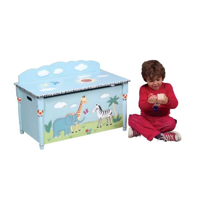 G83208 Guidecraft Safari Toy Box 1