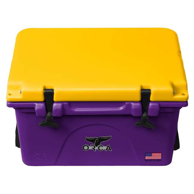 ORCPU/G0026 Orca ORCPU/G0026 Roto Molded 26 Quart 24 Can Insulated Ice Cooler, Purple/Gold 1