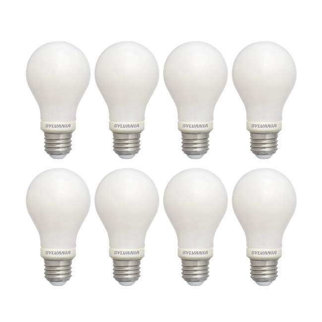 SYL-78038-4PK Sylvania 60W Equivalent LED Light Bulb, Dimmable, Bright White (8 Bulbs)