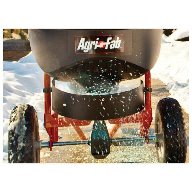 45-0502 Agri-fab 130 Pound Push Spreader for Ice Melt and Fertilizer 2