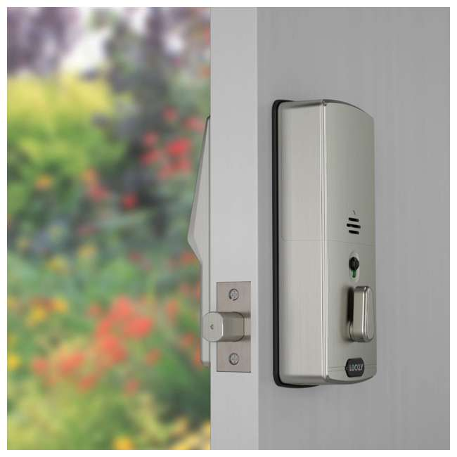 PGD728FSN + PGH200 Lockly Secure Plus Biometric Smart Deadbolt Lock, Nickel (2 Pack) w/ Door Sensor 4