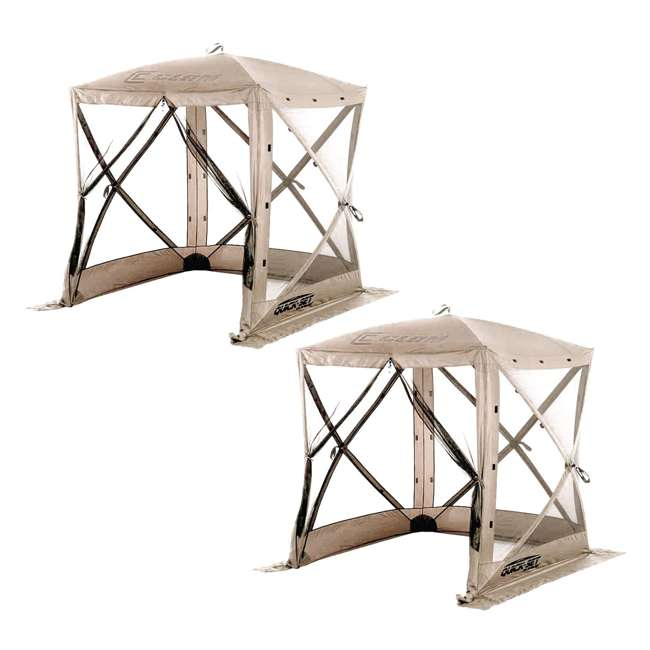 CLAM-TV-114243 Clam Quick-Set Traveler Portable Outdoor Gazebo (2 Pack)