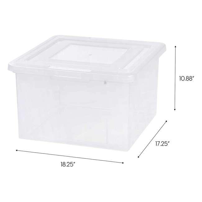 586490-4PK IRIS 586490 Clear Transparent Legal Size File Box Medium Dual Filter, Pack of 4 5