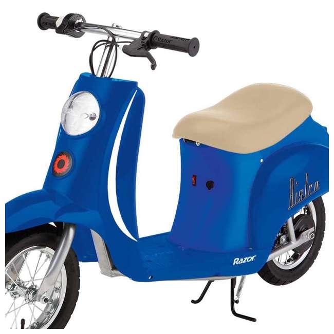 15130641 + 97778 Razor Pocket Mod Miniature Electric Scooter + Youth Helmet 6