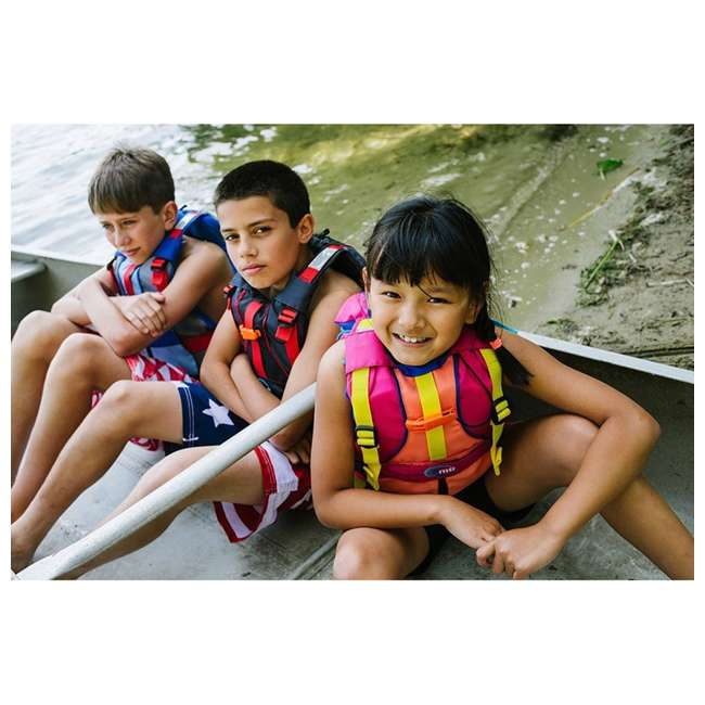 MTI-250D-0BY00 MTI Life Jackets Bob Youth Life Vest, Red 3