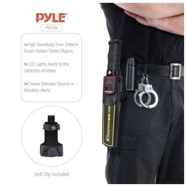 PMD38 Pyle Secure Scan Handheld Metal Detector Wand Scanner (2 Pack) 2