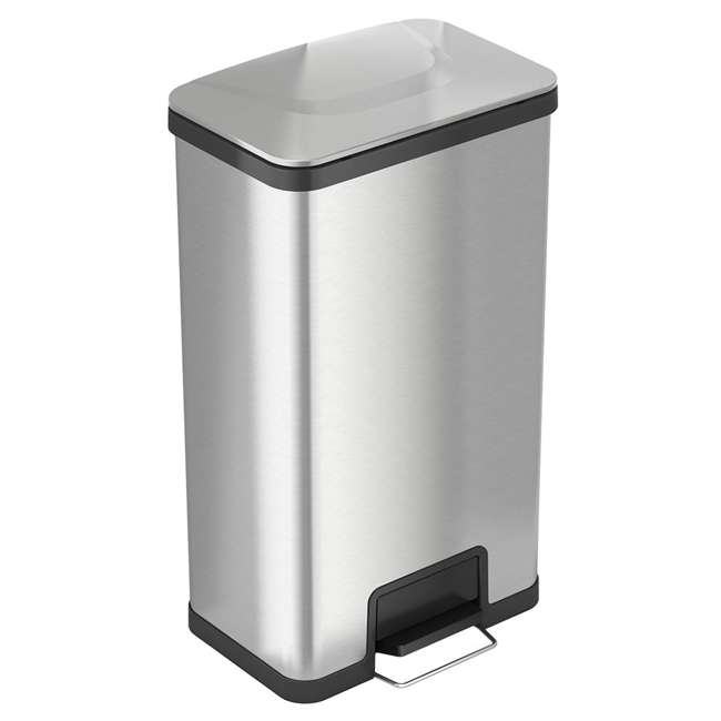 PC18SN iTouchless 18 Gallon Step Trash Can with AirStep Pedal and Built-In Deodorizer
