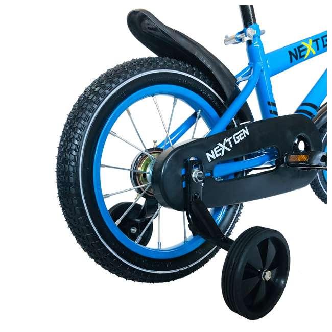 14BK-BLU NextGen 14 Inch Childrens Kids Bike Bicycle with Training Wheels & Basket, Blue 4