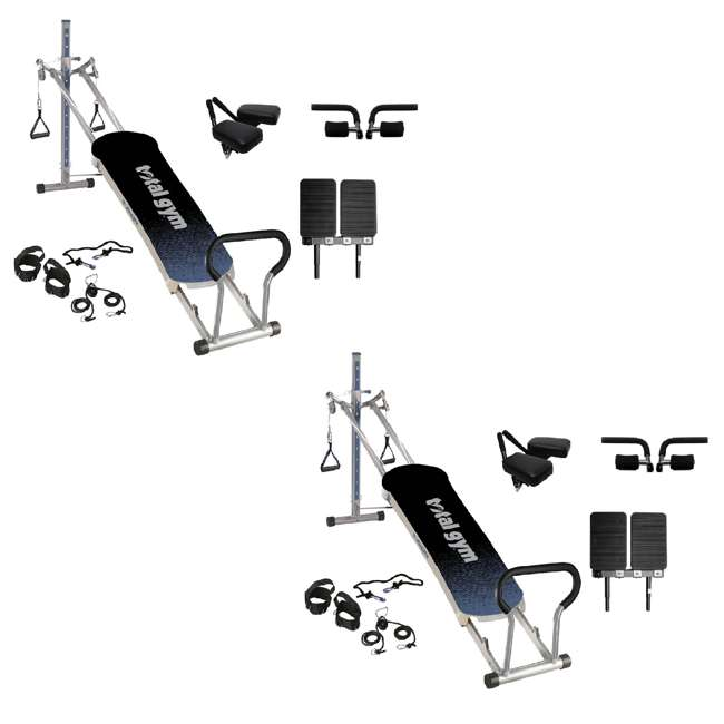 RFUSIONG Total Gym Fitness Fusion Full Body Workout Home Exercise Machine, Grey (2 Pack) 9