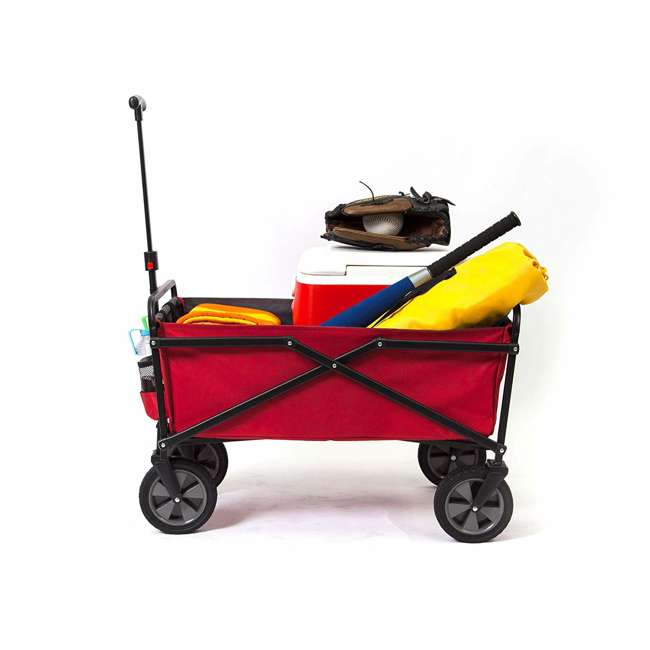SUW-300-RED-GRAY-U-A Seina Collapsible Steel Frame Utility Wagon Outdoor Cart, Red (Open Box)(2 Pack) 4