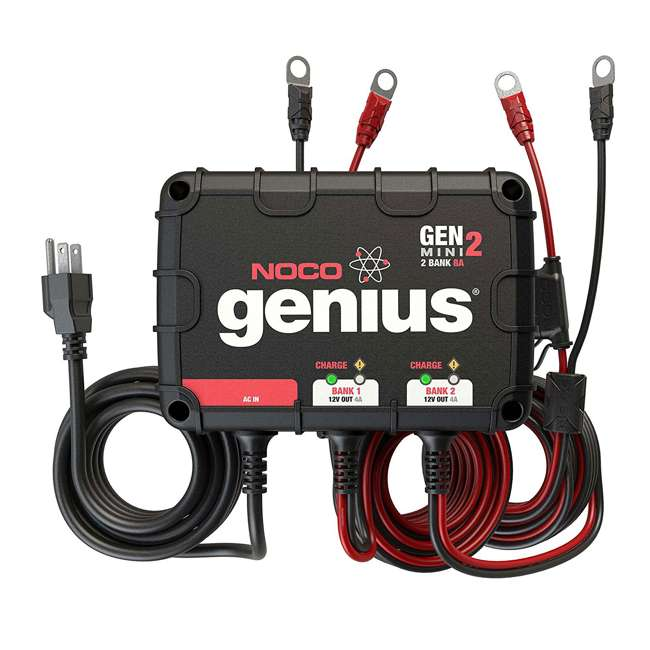 GENM2 Noco Genius GENM2 2 Bank 8 Amp On Board Battery Charger 3