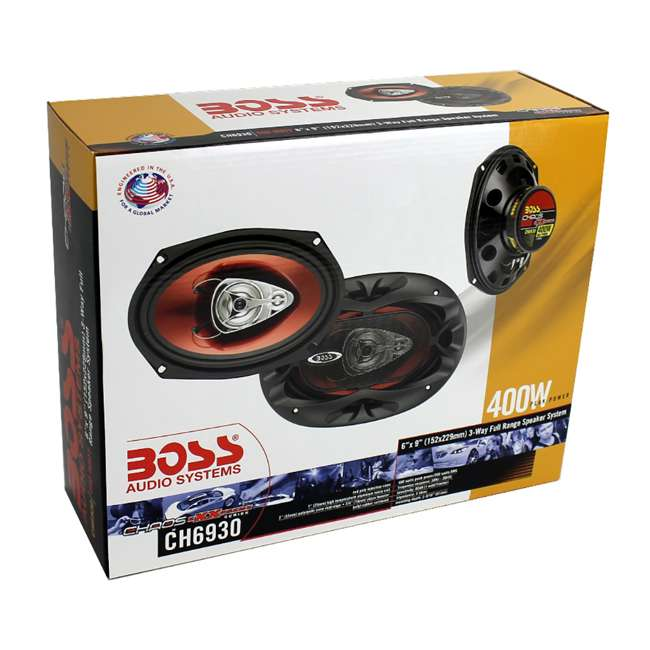 "CH6930 + 2 x CH6530 Boss 6x9"" 3-Way 400W Car Speakers (4 Pack) & 6.5-Inch 3-Way 300 Watt Speakers (4 Pack) 7"