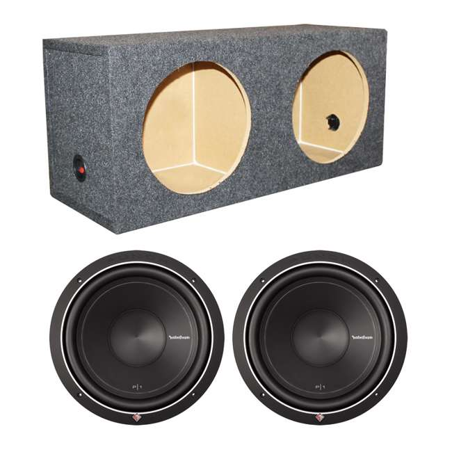P1S4-12 + VM12SEALED 2) Rockford Fosgate P1S4-12 12-Inch 500W Subwoofers + Sub Box (Package)