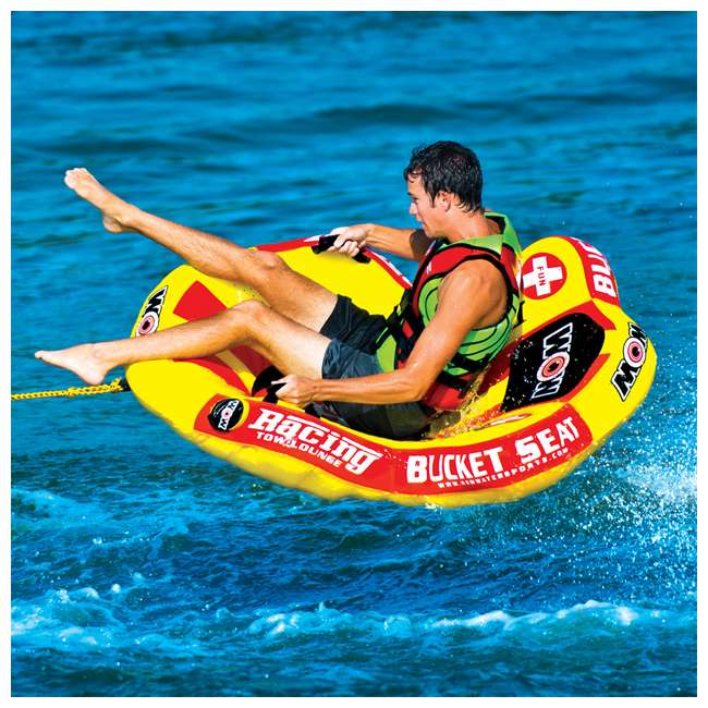 14-1090 WOW Watersports 14-1090 Bucket Seat Single Person Towable Tube with Handles 2