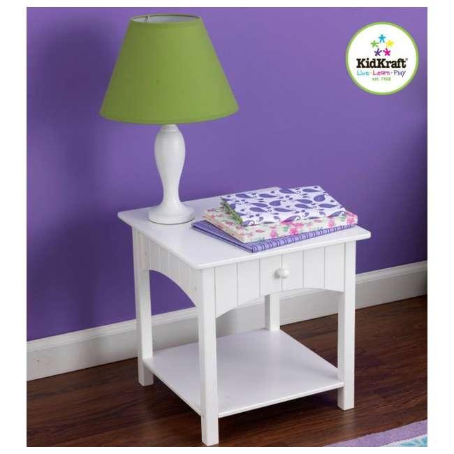 KDK-86624-U-C KidKraft Nantucket Toddler Wood Side Table - White | 86624 (For Parts)