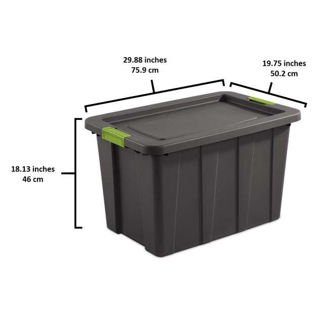 4 x 15273V04 Sterilite Tuff1 Latching 30 Gallon Plastic Storage Tote Container & Lid (4 Pack) 2
