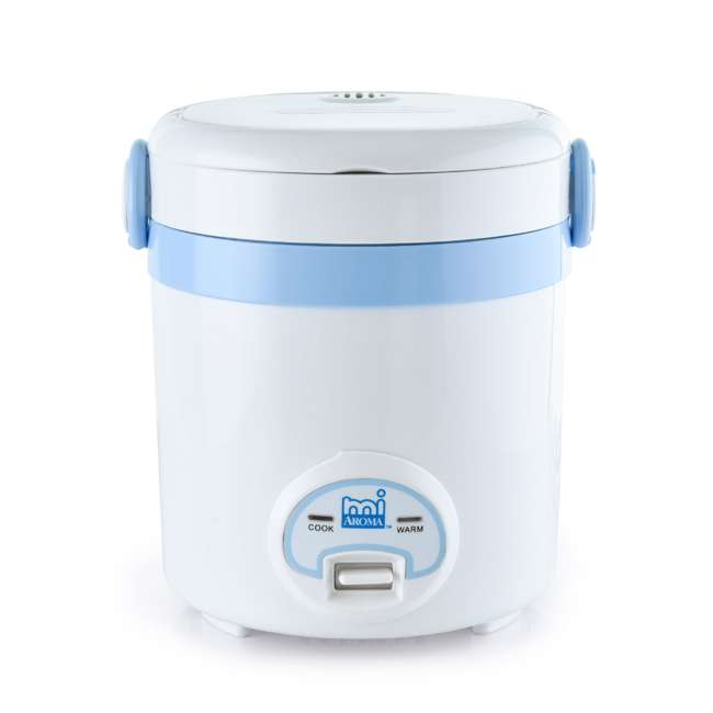 MRC-903BL Aroma miAroma Mini Digital 3-Cup Rice Cooker, Blue (2 Pack) 1