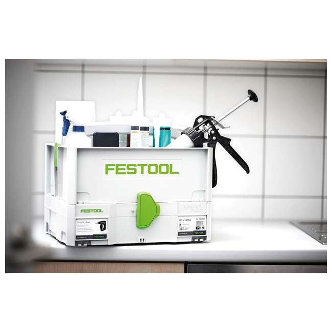 495024 Festool SYS Toolbox Open Top Systainer with Handle, White and Green 2