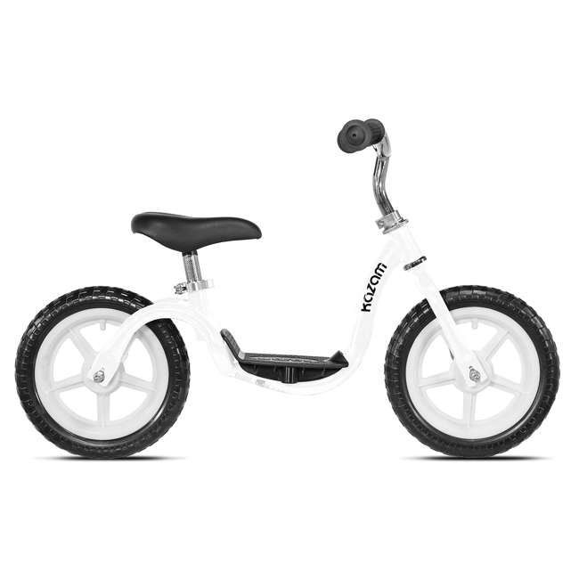 32421K-U-C KaZAM Tyro V2E Step-Through Learning Balance Bike for Kids, White (For Parts)