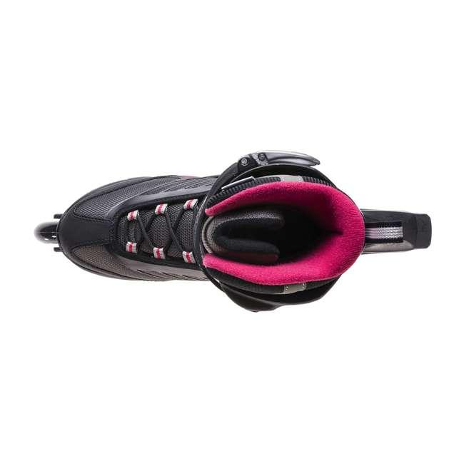 077369009V1-7 Rollerblade Zetrablade Womens W Adult Fitness Inline Skate Size 7, Black/Cherry 6