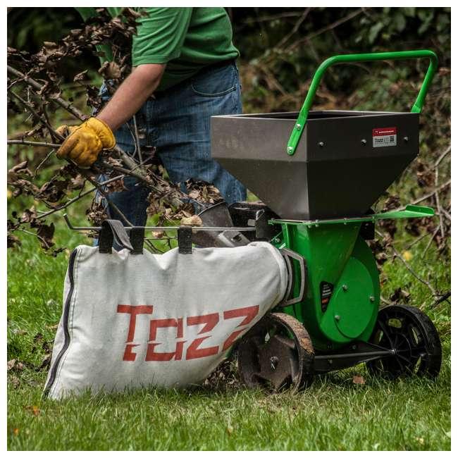 EARTH-30520 + EARTH-1692327 Earthquake Tazz Shredders Compact Wood Chipper & Chipper/Shredder Tow Bar Hitch 3