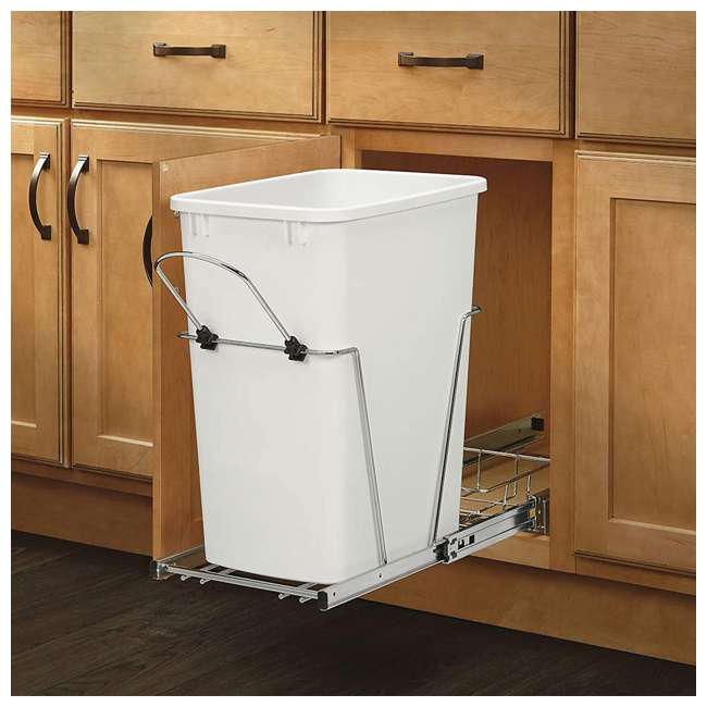 RV-35-52 Rev-A-Shelf RV-35-52 35 Quart Replacement Trash Bin for Pull Out Waste Systems 1