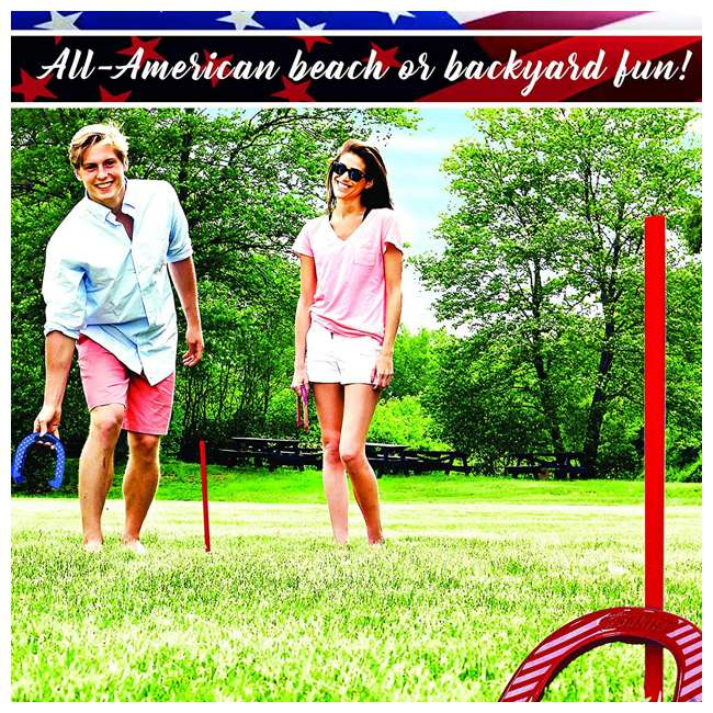 50011 Franklin Sports Horseshoe Set with Bag, Red/White/Blue 2