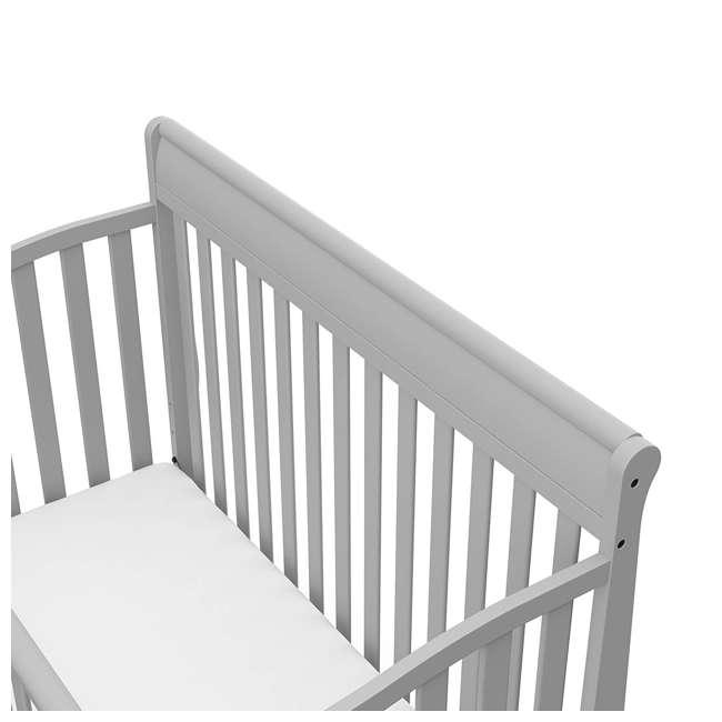 04530-66F + 06711-300 Graco Stanton 4-in-1 Crib in Pebble Gray w/ Natural Foam Mattress 4