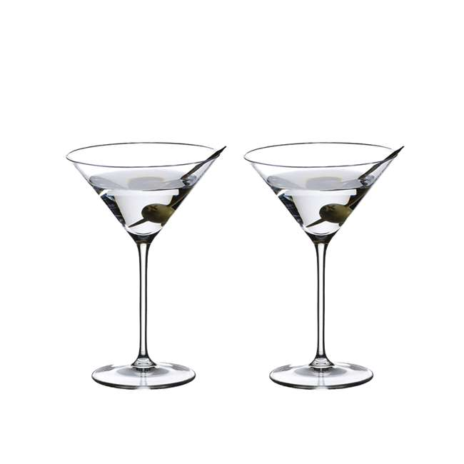 6416/37 Riedel Vinum Crystal Inverted Cone Shaped XL Martini Glass, 9.52 Ounce (2 pack)