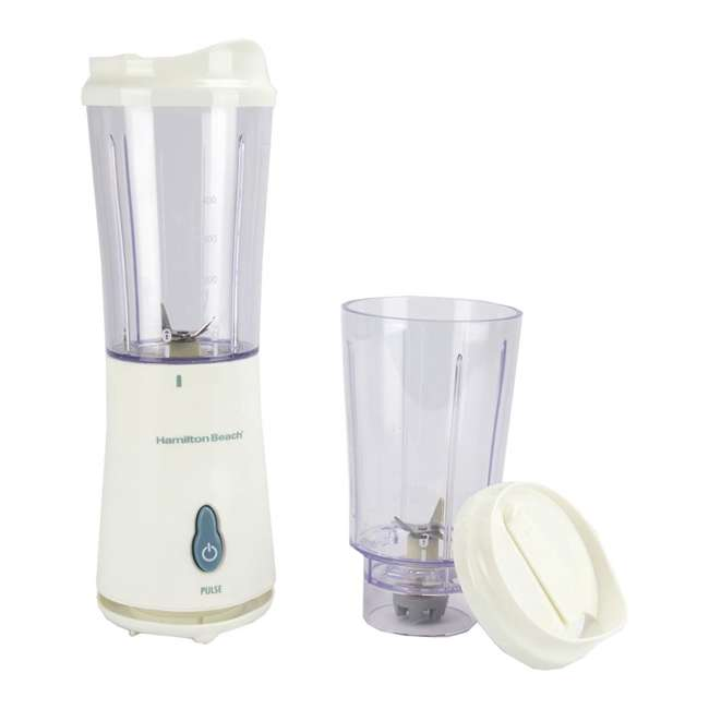 51102 + BLEND-BIBLE Hamilton Beach Single Serve Compact Blender with The Blender Bible Recipe Guide 1