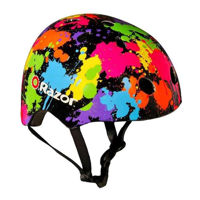 13111211 + 97913 Razor E100 Electric Hub Kids Motorized Kick Scooter With Splatter Bike Helmet 2
