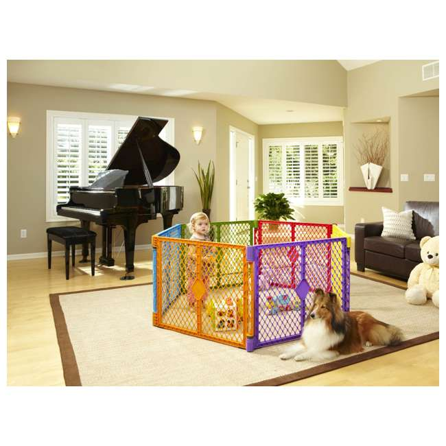 8769 + NS-8910 North States Color 6-Panel Superyard Baby/Pet Gate + Folding ABC Baby Play Mat 5