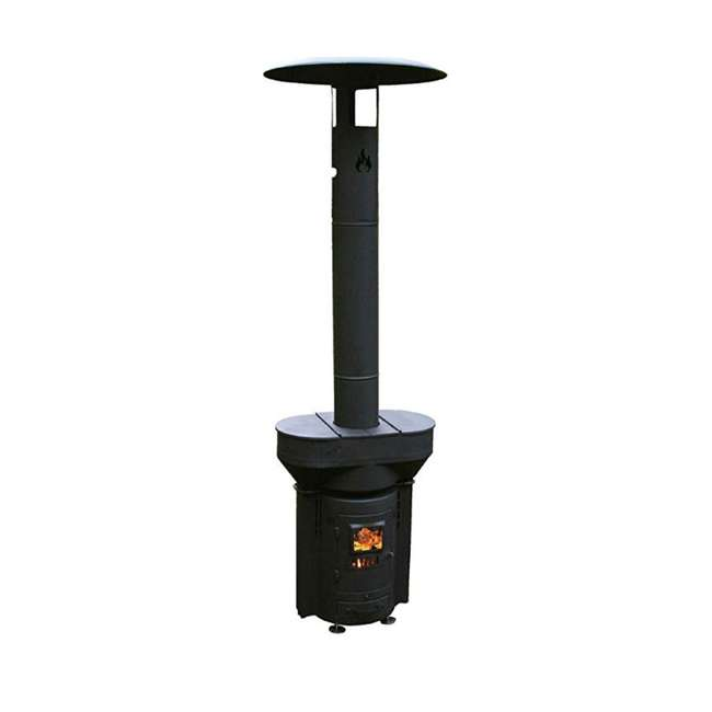 Q05 Q Stoves Q Flame Outdoor Heater Portable for Patio Camping Wood Pellets, Black
