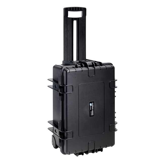 6700/B/RPD + CS/3000 B&W 42.8L Plastic Waterproof Case w/ Wheels, RPD Insert & Shoulder Strap, Black