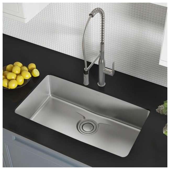 KD1US33B-OB Kraus Dex 33-Inch Undermount Single Bowl Stainless Steel Sink (OPEN BOX) 2