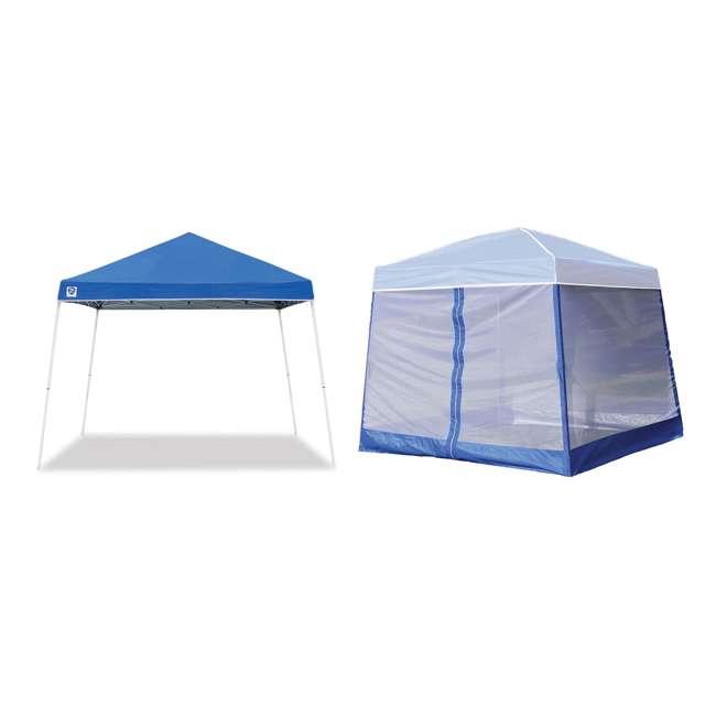 ZSB10INSTBL + ZS1SR10AL Z-Shade 10 x 10-Foot Horizon Shade Canopy with Screen Walls