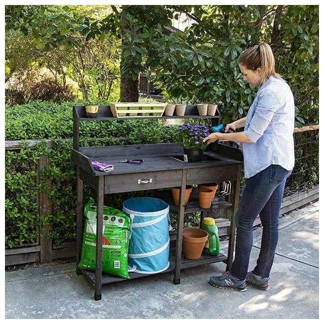 729BL Bloom Natural Fir Potting Indoor/ Outdoor Work Bench/ Station w/ Sink & Storage 1
