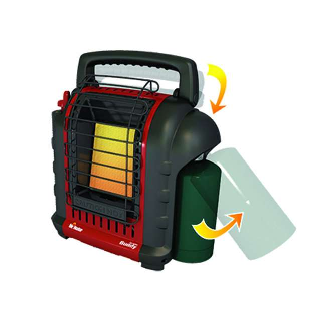 MH-F232017 + MH-13432 Mr. Heater MH-F232017 Portable Buddy Indoor/Outdoor Propane Heater & Carry Bag 2
