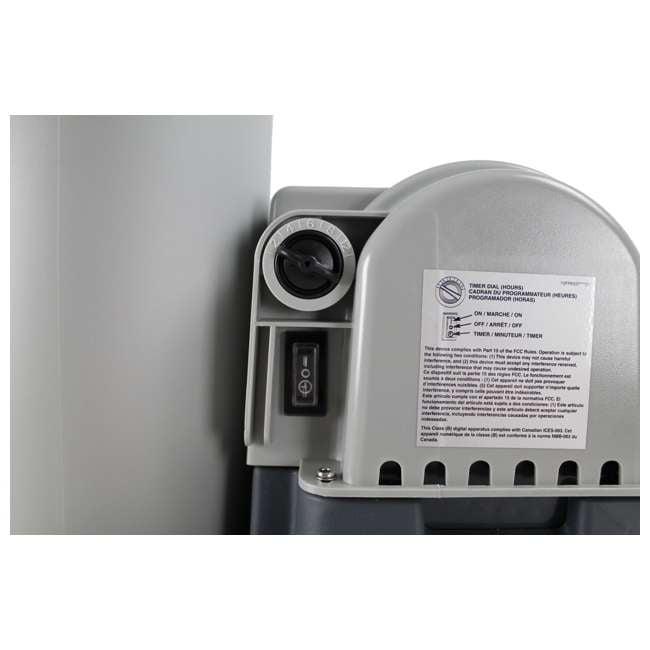 28633EG + 28000E Intex 2500 GPH Swimming Pool Filter Pump and Wall Mounted Surface Skimmer 4