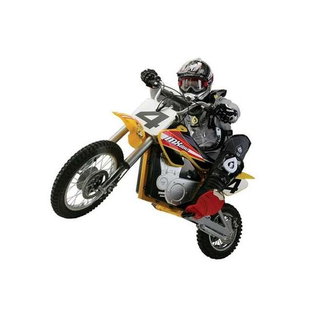 15165070 + 97775 + 96785 Razor MX650 Dirt Rocket Electric Moto Bike with Helmet, Elbow & Knee Pads 2