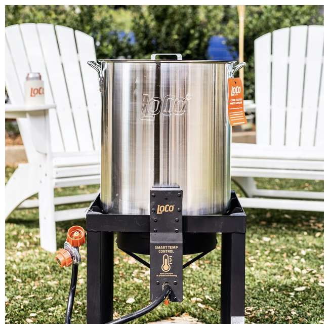 LCPTFK36 LoCo Cookers LCPTFK36 Stainless Steel 36 Quart Outdoor Propane Turkey Fryer 4